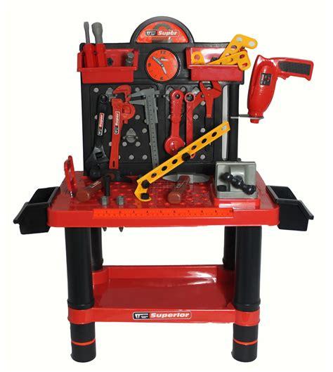 Boys Work Bench - 54pc children boys tool drill kit work bench set