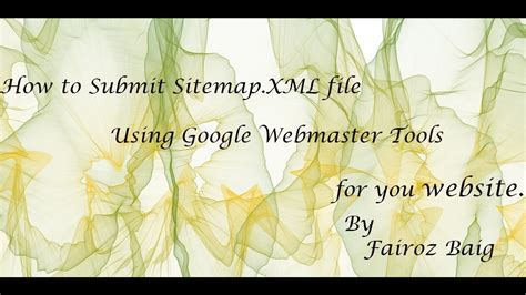 How Submit Sitemap Xml File Using Google Webmaster