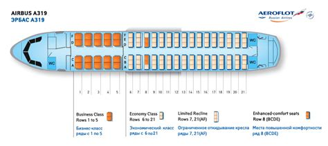 plan siege avion easyjet aeroflot airlines aircraft seatmaps airline seating maps