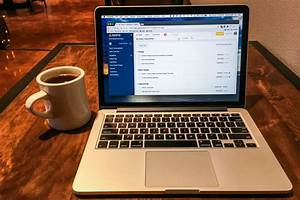 Free, Stock, Photo, Of, Laptop, U0026, Coffee, Cup, On, Wood, Table