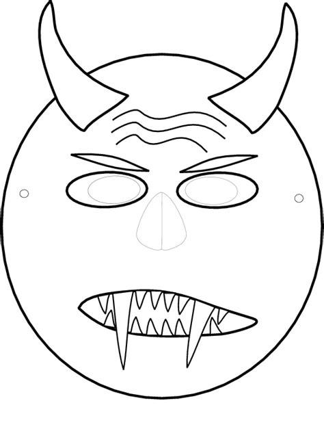 Kleurplaat Dino Masker by Uitzonderlijk Knutselen Peuters Uz75 Belbin Info
