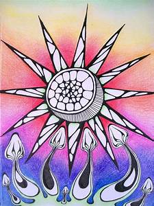 Psychedelic Sun and Shrooms by KCJoker33 on DeviantArt