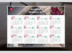 Desain Kalender Tahun 2019 Masehi 1440 Hijriyah
