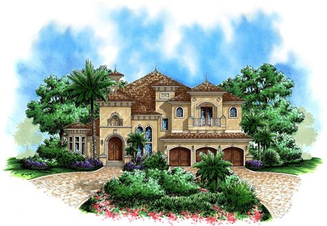 beautiful tuscan appeal  architectural designs house plans