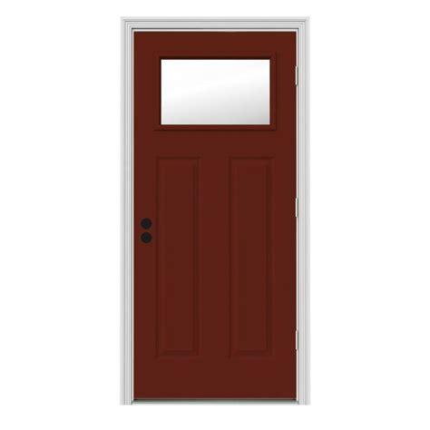 Outswing Interior Door by Jeld Wen 34 In X 80 In 1 Lite Craftsman Mesa W