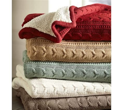 pottery barn throws cozy cable knit throw pottery barn