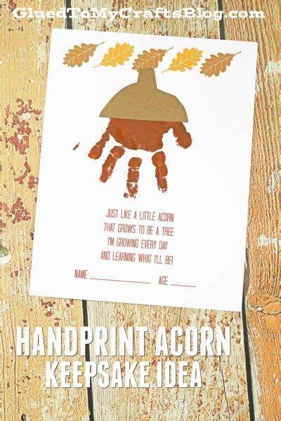 handprint acorn poem fall kid craft idea wfreebie