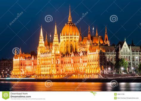 siege du parlement le parlement hongrois vue de nuit budapest image libre