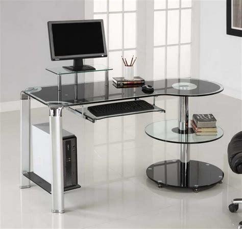 glass table computer desk glass office desk ikea homefurniture org