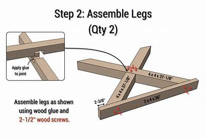 Table Leg Plans Diy Dining Herringbone Outdoor