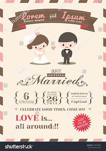 wedding invitation card template cute groom stock vector With wedding invitation animation template
