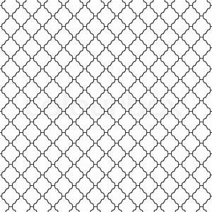 Abstract seamless ornamental lines monochrome pattern ...