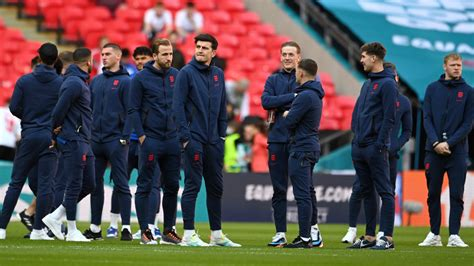 The Latest: England team strolls onto field at Wembley ...