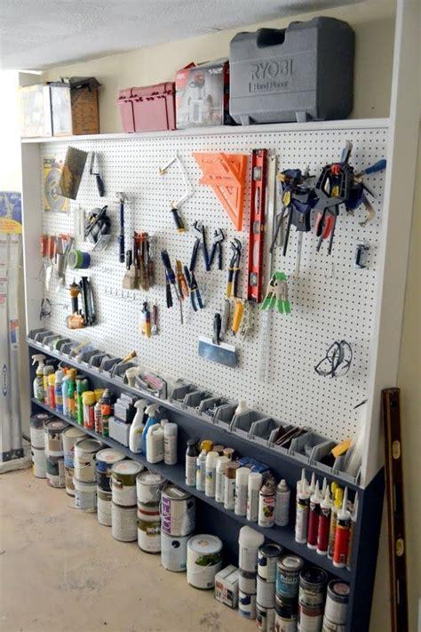 Garage Organization Pegboard by Best 25 Pegboard Garage Ideas On Garage