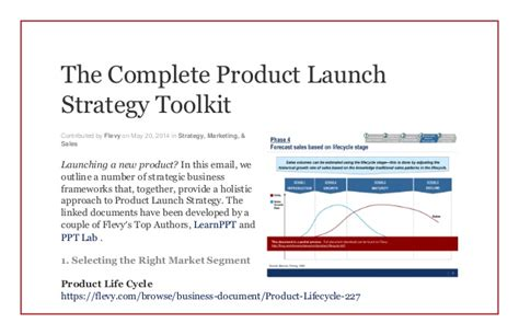 the complete product launch strategy toolkit