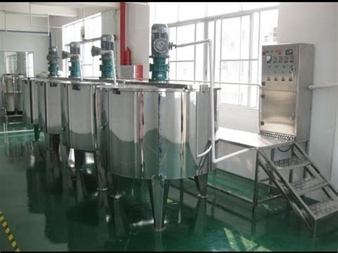 stainless steel blending tanks  electric rods heating system sold  bolivia youtube