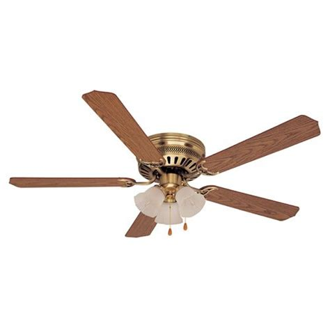 kmart outdoor ceiling fans heritage farms 52in antique brass hugger ceiling fan