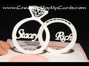 wedding pop up card linked rings youtube With wedding invitation pop up card linked rings tutorial
