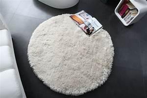 Tapis Blanc Rond : osez le tapis rond pour un int rieur tr s la mode ~ Dallasstarsshop.com Idées de Décoration