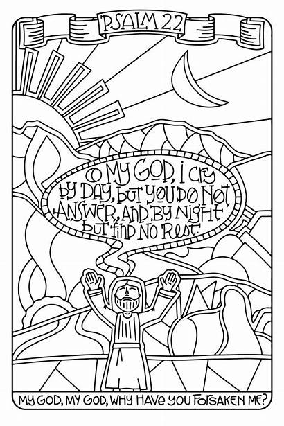 Coloring Psalms Psalm Bible 5x11 Colouring Sheets