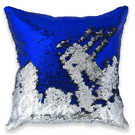 Sparkly Pillows by Blue Silver Reversible Sequin Glam Pillow Glam Pillows