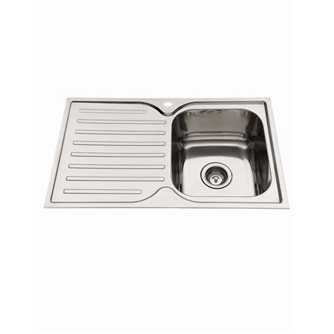 everhard kitchen sinks everhard 780mm squareline kitchen sink with single bowl 3616