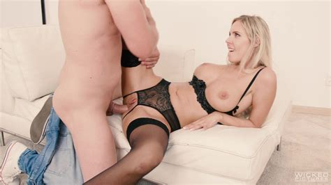 Blonde In Hot Lingerie Seductive Anal Sex In Doggy Style