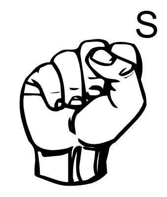 letters in sign language the letter quot s quot sign launguage i l vє thє lєttєr quot ṧ 4241