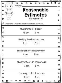2nd grade module 2 lesson 5 supplemental worksheets estimate and measure