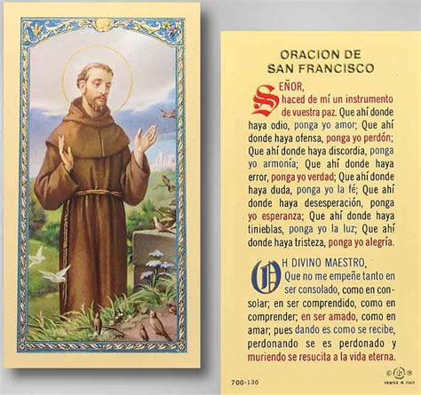 st francis of assisi prayer dios y jesus y santos