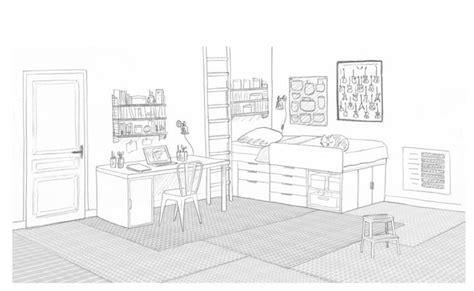 chambre en perspective dessin dessin chambre pré ado salle de jeux commune interior