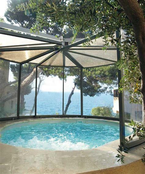 pour piscine abri panoramique pour spa et piscine achat et devis chez irrijardin