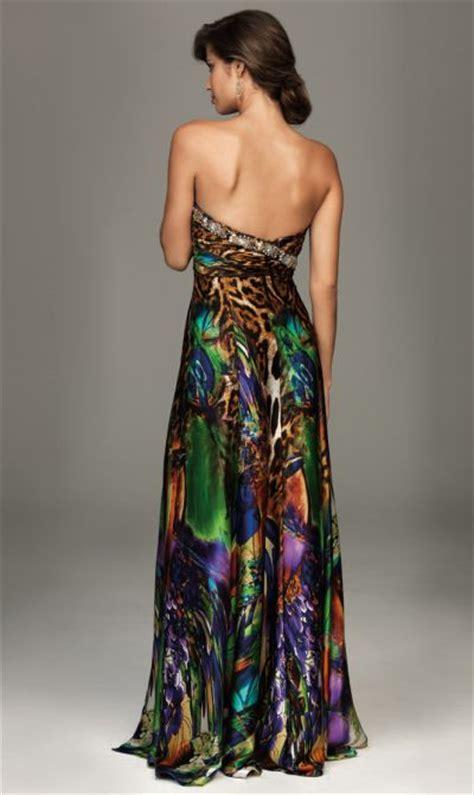 colorful animal print evening dress evenings  allure