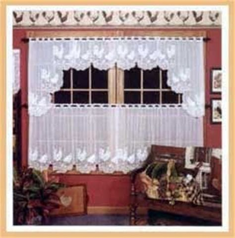 Heritage lace curtains   rooster  tier   ecru, swag pair