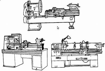 Lathe Drawing Types Lathes Smithy Paintingvalley