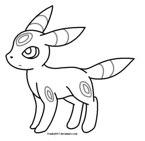 Pokemon Umbreon Coloring Pages