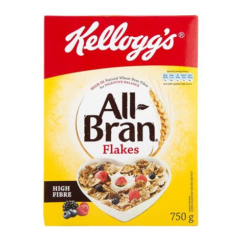 750g cuisine kellogg 39 s all bran flakes 750g woolworths co za
