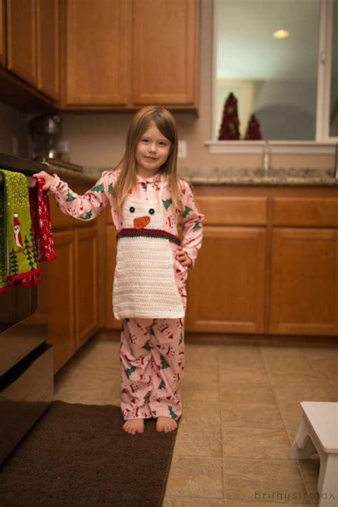 snowman apron crochet pattern skip   lou