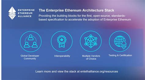 eea aims to standardize blockchain implementation with new enterprise ethereum architecture