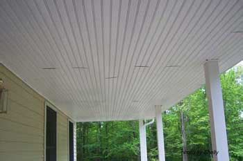vinyl porch ceiling porch ceilings installing vinyl bead board ceiling