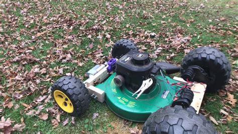 rc power wheel lawn mower youtube