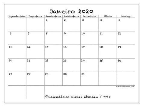 calendario janeiro sd michel zbinden pt