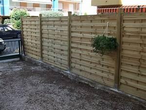 Panneau De Cloture En Bois : exceptional panneau bois de cloture 14 pose panneaux ~ Premium-room.com Idées de Décoration
