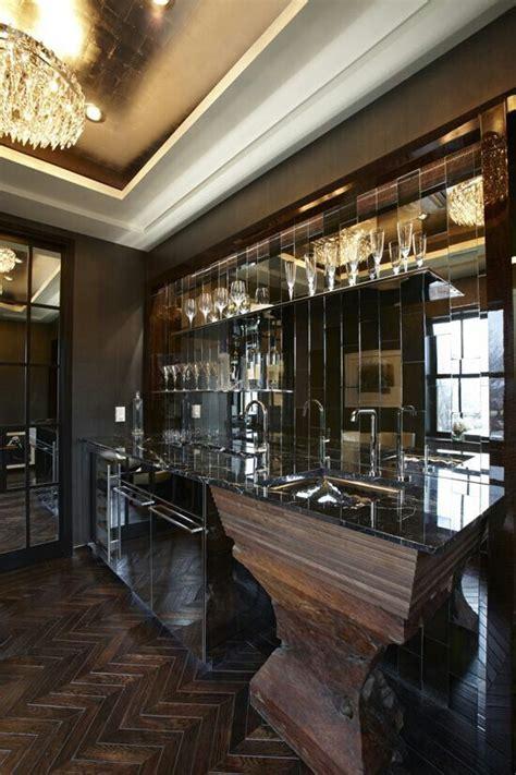 mirror  bar design kitchen design bars