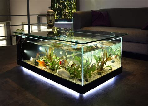 cuisine bonne qualité pas cher table basse aquarium fait maison mobilier design décoration d 39 intérieur