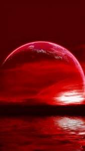 Rare 'Super Flower Blood Moon Eclipse' Th?id=OIP