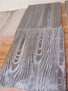 Faux wood floors with a wood grain tool