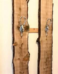 Garderobe Selber Bauen Holz : diy garderobe selber bauen tutorial mit altholz mit baumkante und baumrinde ~ Yasmunasinghe.com Haus und Dekorationen