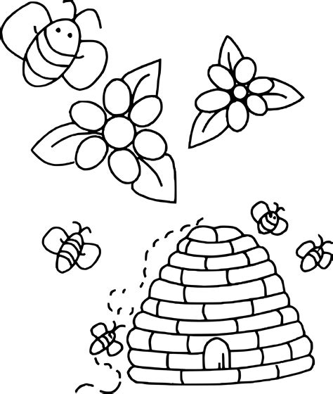 jeux gratuit cuisine fille coloriage ruche abeille à imprimer