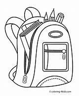 Coloring Backpack Printable Drawing Draw Simple 4kids Christian Printables Sheets sketch template